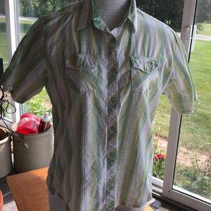 "Wrangler ""button"" up western shirt Large"